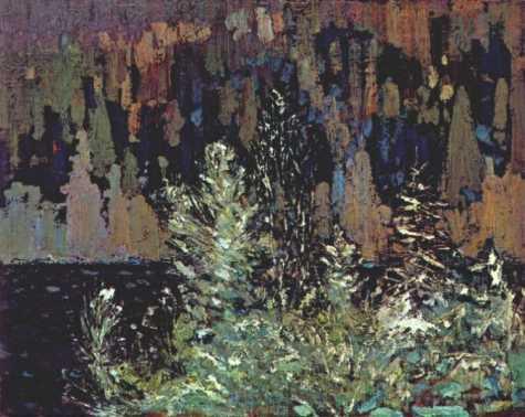 Frost laden Cedars Big Cauchon Lake | Tom Thompson | oil painting