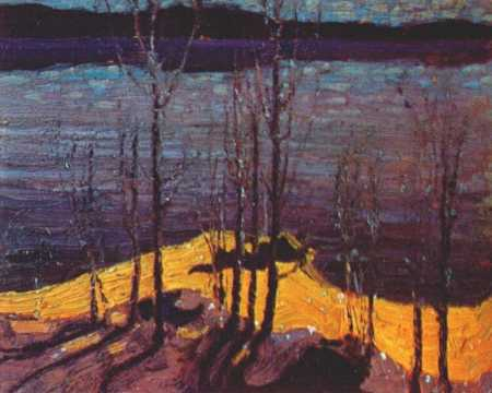 Moonlight and Birches | Tom Thompson | oil painting