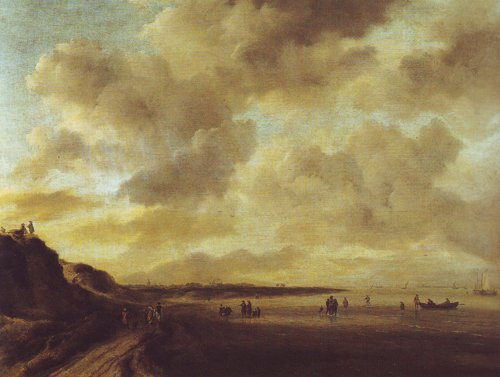 Beachscape with dunes | Jacob Van Ruisdael | oil painting
