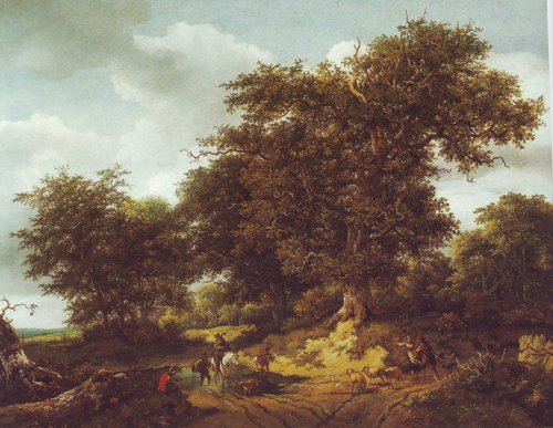 Bentheim castle | Jacob Van Ruisdael | oil painting