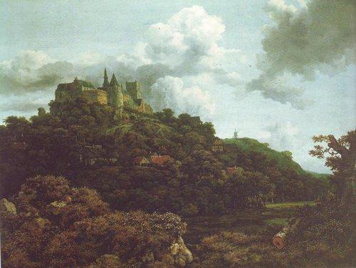 Bentheim castle2 | Jacob Van Ruisdael | oil painting
