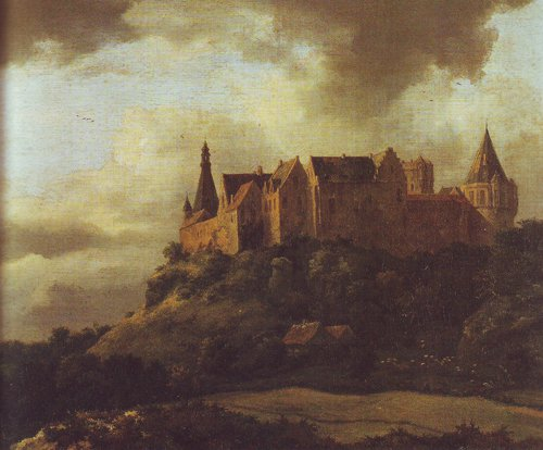 Bentheim castle3 | Jacob Van Ruisdael | oil painting
