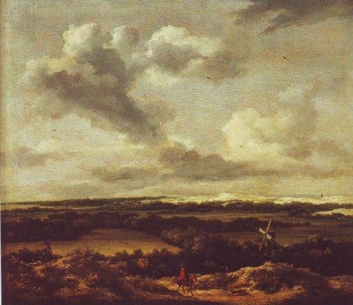 Dune landscape with a rabbit hunt | Jacob Van Ruisdael | oil painting