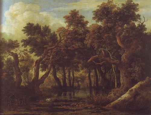 Marsh in a forest | Jacob Van Ruisdael | oil painting
