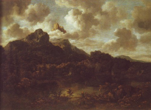 Mountainous and wooded landscape with a river | Jacob Van Ruisdael | oil painting