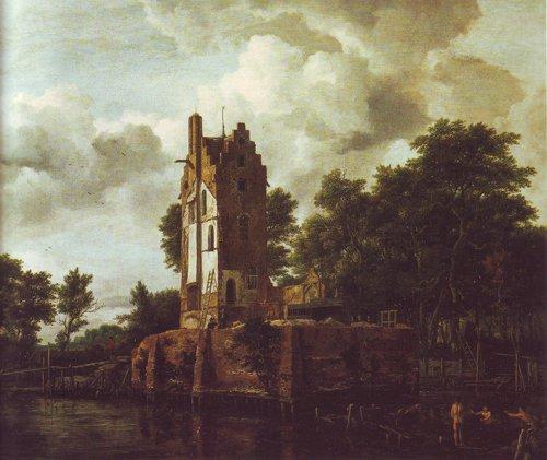 Reconstruction of the ruins of the manor kostverloren | Jacob Van Ruisdael | oil painting