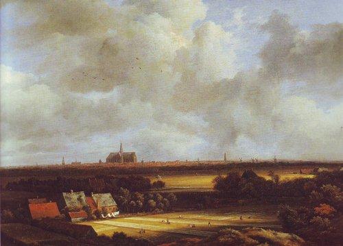 View of haarlem with bleaching grounds2 | Jacob Van Ruisdael | oil painting