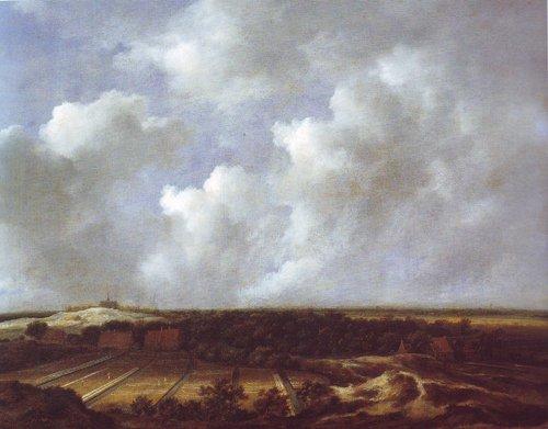 View of the dunes near bloemendaal with bleaching fields | Jacob Van Ruisdael | oil painting