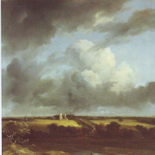 View of the ruins of huis ter kleef and haarlem | Jacob Van Ruisdael | oil painting