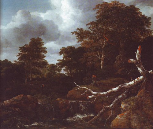 Waterfall in a hilly wooded landscape2 | Jacob Van Ruisdael | oil painting