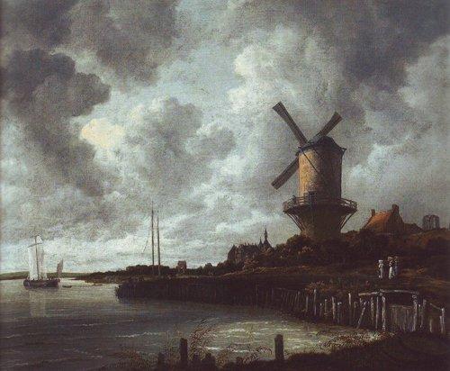 Windmill at wijk bij duurstede | Jacob Van Ruisdael | oil painting