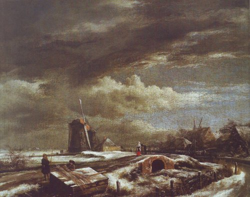Winter landscape | Jacob Van Ruisdael | oil painting