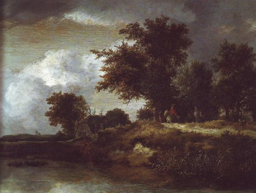 Wooded river bank | Jacob Van Ruisdael | oil painting