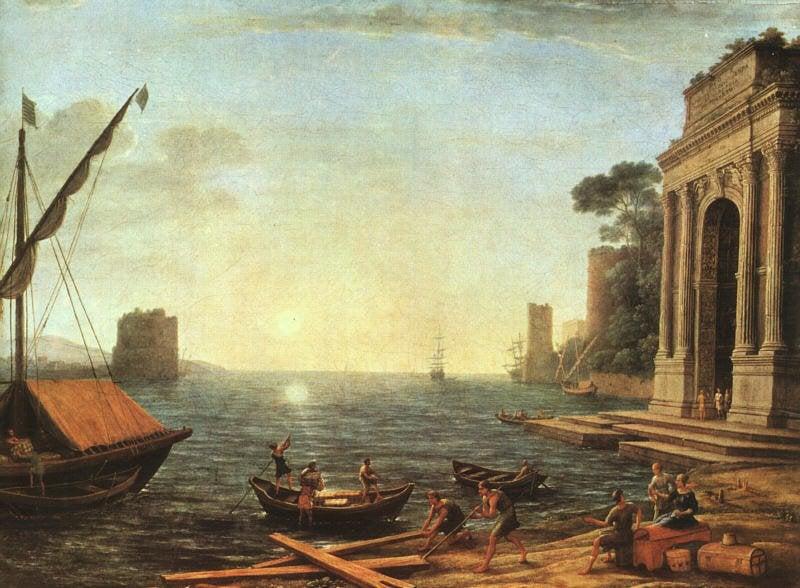 A Seaport 1674 | Claude Lorrain | oil painting