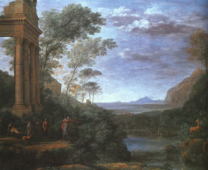 Landscape with Ascanius Shooting the Stag of Silvia | Claude Lorrain | oil painting