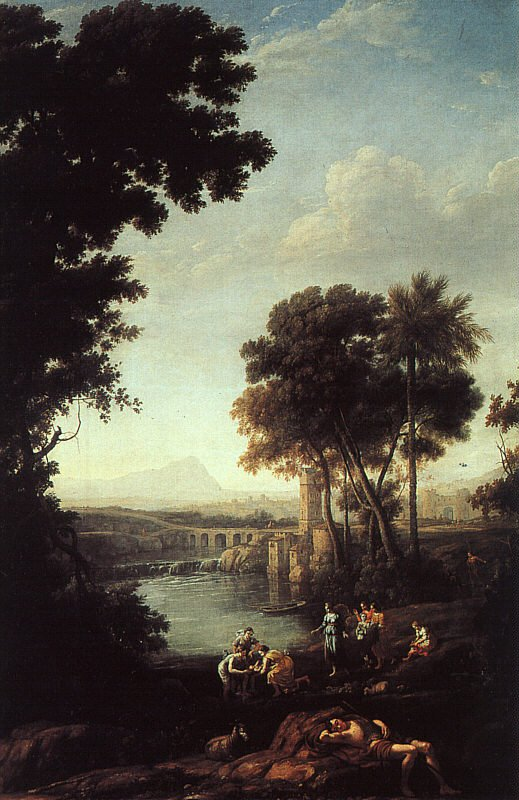 Landscape with the Finding of Moses 1638 | Claude Lorrain | oil painting