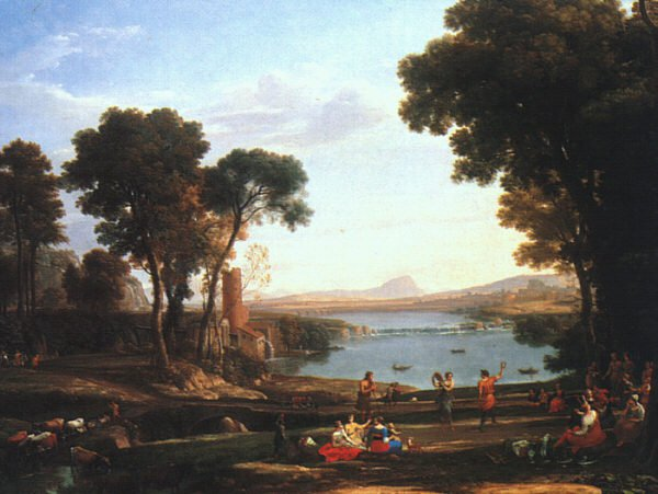 Landscape with the Marriage of Isaac and Rebekah 16   Claude Lorrain   oil painting