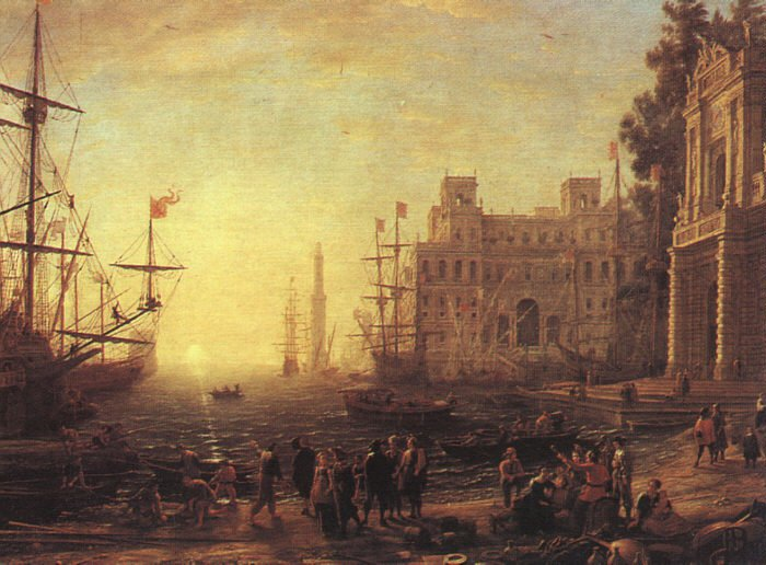 Port with Villa Medici 1637 | Claude Lorrain | oil painting