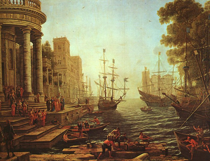 Seaport The Embarkation of St. Ursula 1641 | Claude Lorrain | oil painting