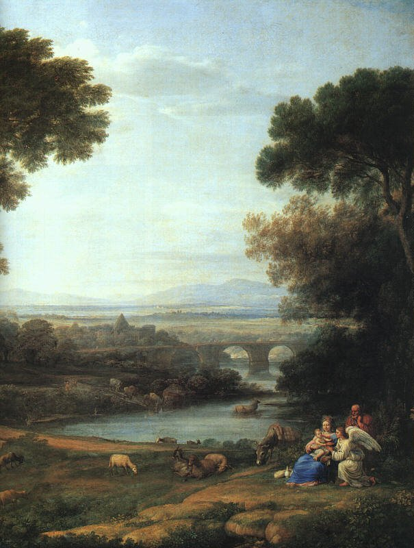 The Rest on the Flight into Egypt 1651   Claude Lorrain   oil painting
