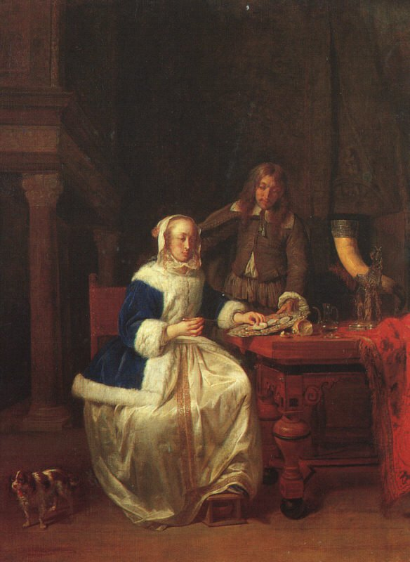 Breakfast 1660 | Gabriel Metsu | oil painting