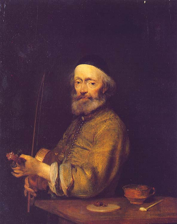A VIOLINIST   Gerald TER BORCH   oil painting