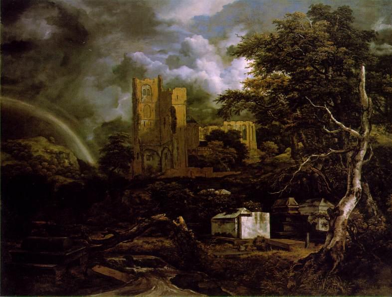 Jewish cemetery ca 1657 | Jacob Van Ruisdael | oil painting