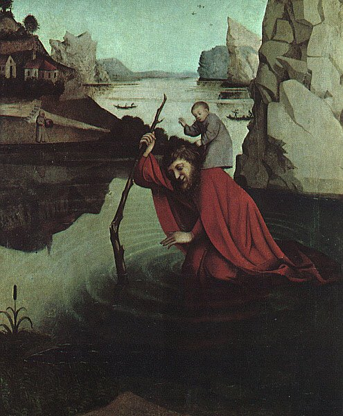 Saint Christopher 1440 | Konrad Witz | oil painting