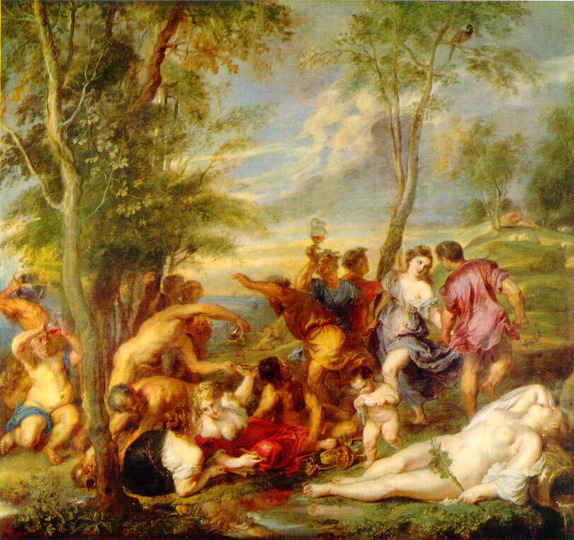 Backanal preAndros (efter Tiziano) 1630 35 | Peter Paul Rubens | oil painting