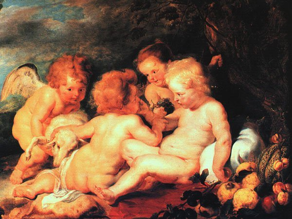 Christ and Saint John with Angels | Peter Paul Rubens | oil painting