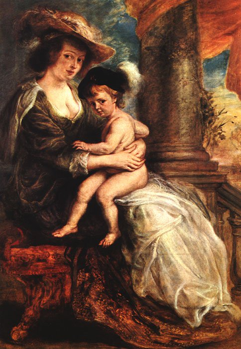 Helena Fourment with her Son Francis 1635 | Peter Paul Rubens | oil painting
