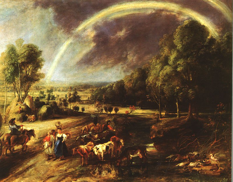 Landscape with a Rainbow | Peter Paul Rubens | oil painting