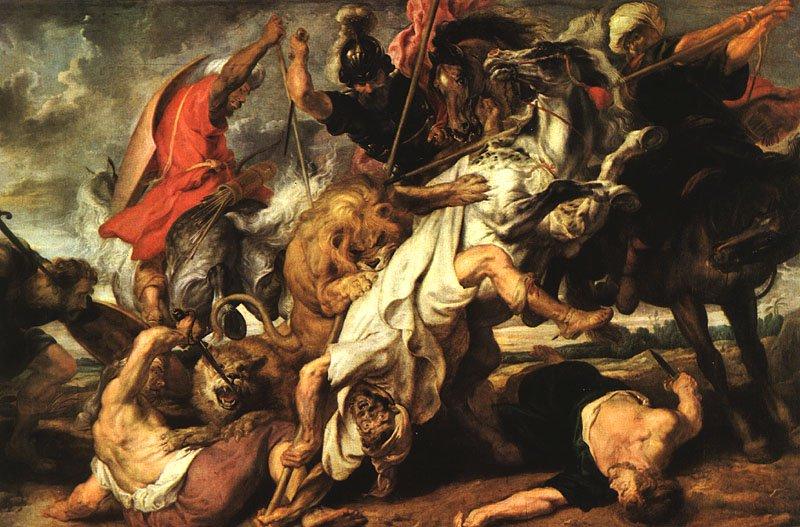 Lion hunt 1616 | Peter Paul Rubens | oil painting