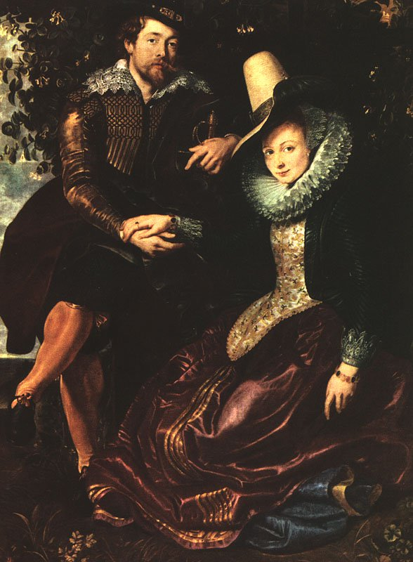 The Artist and His First Wife Isabella Brant | Peter Paul Rubens | oil painting