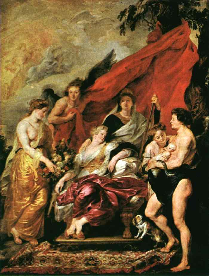 The Birth of Louis XIII 1621 1625 | Peter Paul Rubens | oil painting