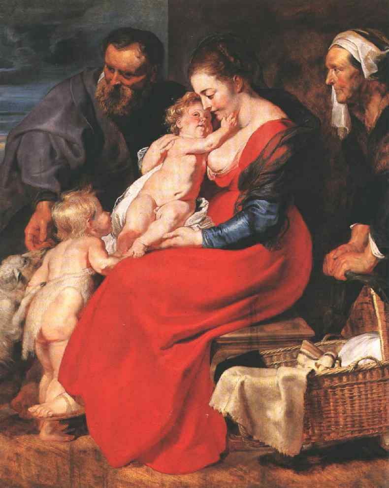 The Holy Family with Saints Elizabeth and John the Ba | Peter Paul Rubens | oil painting