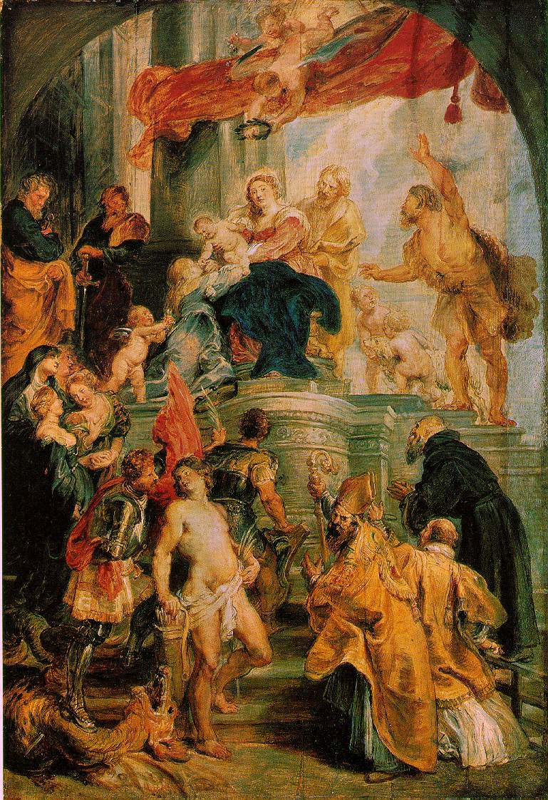 Virgin and child enthroned with saints c 1627 28 | Peter Paul Rubens | oil painting