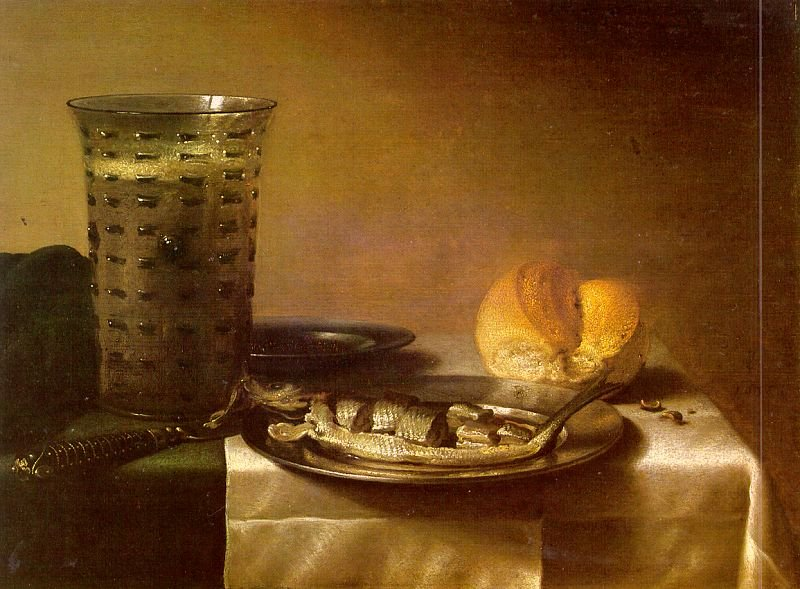 Fish Still Life | Pieter Claesz | oil painting