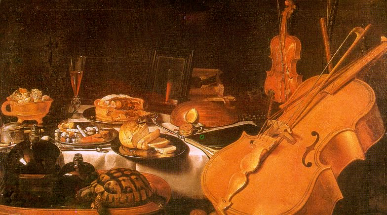 Still Life with Musical Instruments 1623 | Pieter Claesz | oil painting
