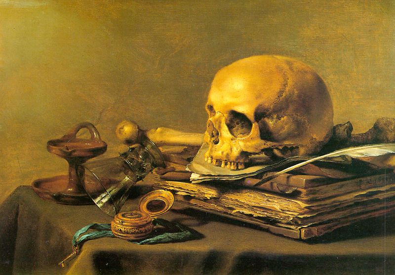 Vanitas Still Life 1630 | Pieter Claesz | oil painting