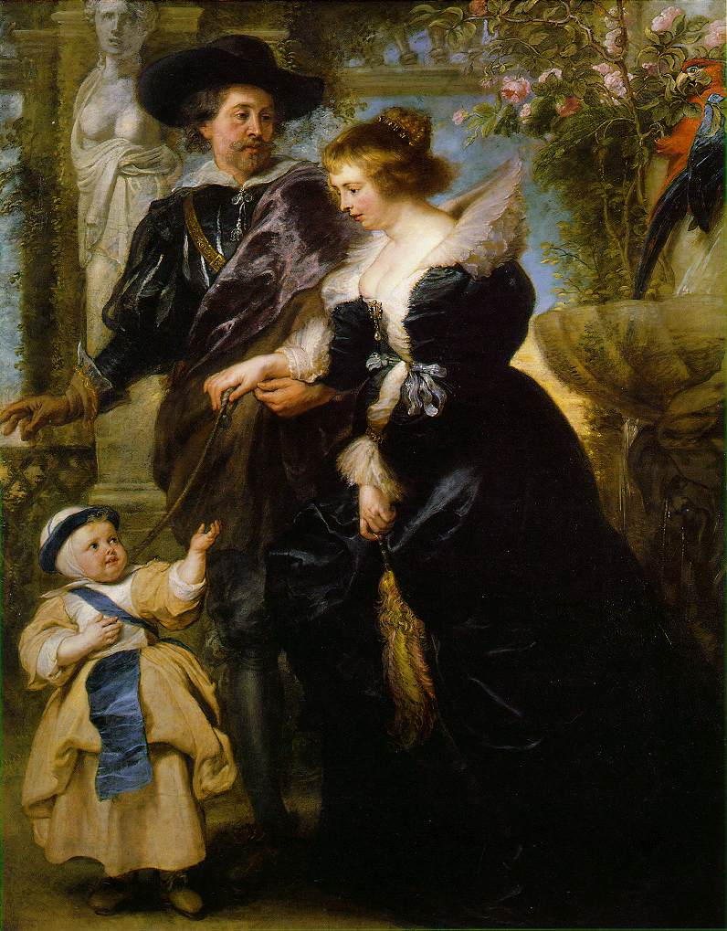 Rubens his wife Helena Fourment and their son c 163 | Peter Paul Rubens | oil painting