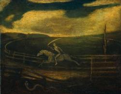 The Race Track or Death on a Pale Horse | Albert Pinkham Ryder | oil painting