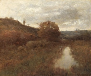Autumn Landscape and Pool | Alexander H Wyant | oil painting