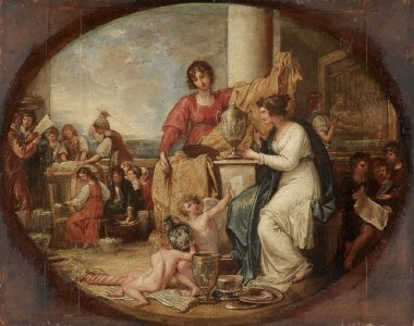 British Manufactory A Sketch | Benjamin West | oil painting