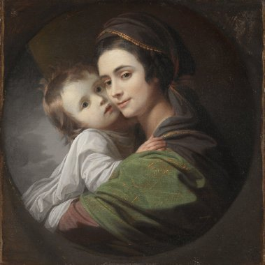 Mrs West with Raphael West | Benjamin West | oil painting