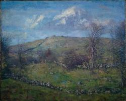 Spring on a Hillside | Charles Harold Davis | oil painting