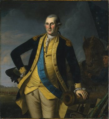 George Washington at the Battle of Princeton | Charles Willson Peale and workshop | oil painting