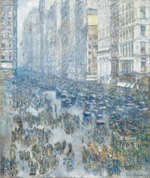 Fifth Avenue | Childe Hassam | oil painting