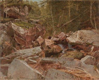 Study North Conway New Hampshire   David Johnson   oil painting