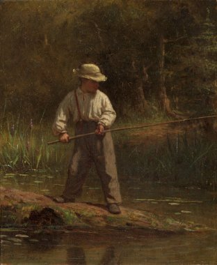 Boy Fishing | Eastman Johnson | oil painting
